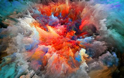 abstraction smoke paint brightness explosion wallpaper 2560x1600 335817 wallpaperup