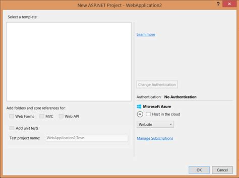 template project missing asp net project templates missing after installing update