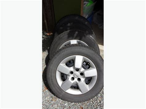 nissan rogue rims and tires 2010 nissan rogue winter tires and wheels w caps outside