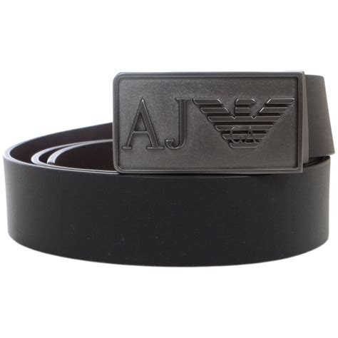 armani 06121 reversible brown black leather belt