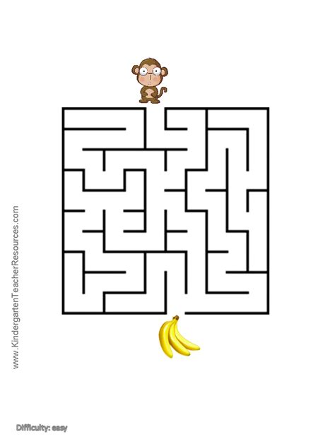 6 best images of big printable mazes free printable monkey worksheets and coloring pages