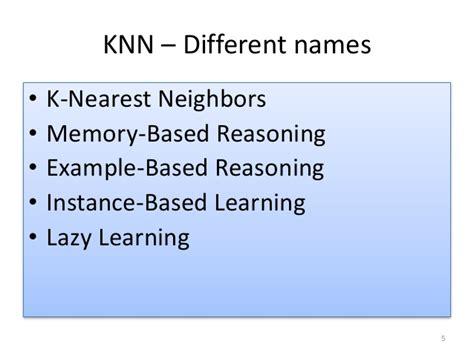 pattern recognition k nearest neighbor k nearest neighbors