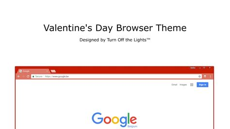 valentine theme for google chrome valentine s day chrome theme youtube