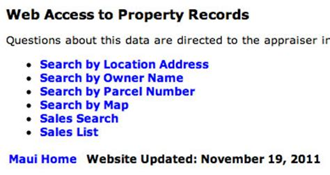 Property Record Search By Name Honolulu Property Search Still Hides Information I L I N D
