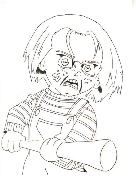 pin chucky doll coloring pages on pinterest