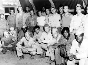 African american and white soldiers at a base in italy during world