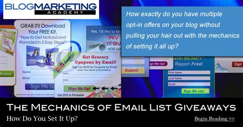 the mechanics of email list giveaways how do you set it up blog marketing academy - Email List Giveaway