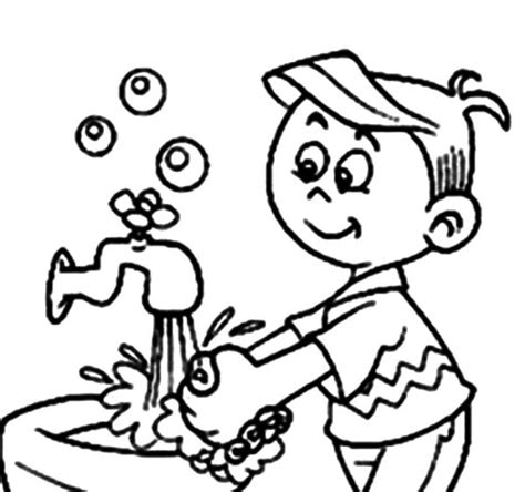 hand washing for kids coloring pages coloring home