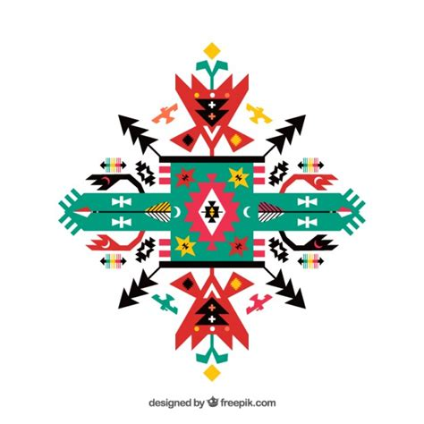 ethnic ornaments geometric ethnic ornament vector premium