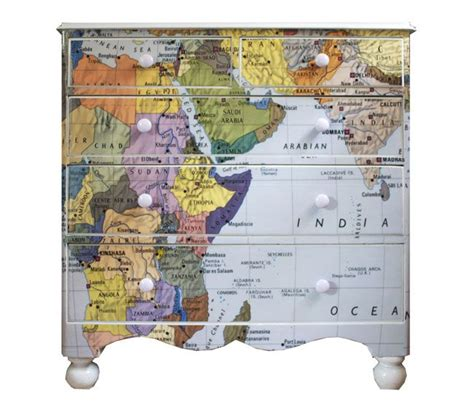 Decoupage Map - map chest by bryonie porter crafty works decoupage