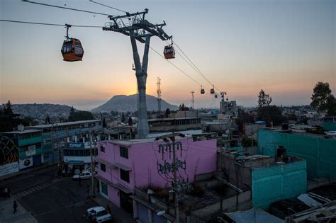 nytimes mexico city near mexico city cable car lets commuters glide over