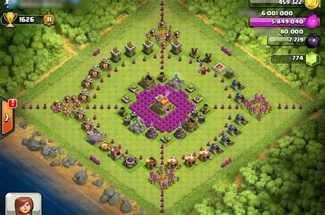 coc layout funny beautiful symmetry base clash of clans base pinterest