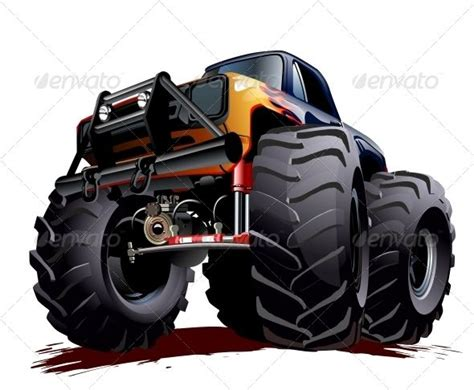 monster truck cartoon videos cartoon monster truck vectors pinterest