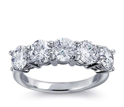 classic  stone diamond ring  platinum blue nile