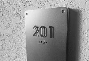 room numbers luxello illuminated modern room number sign braille
