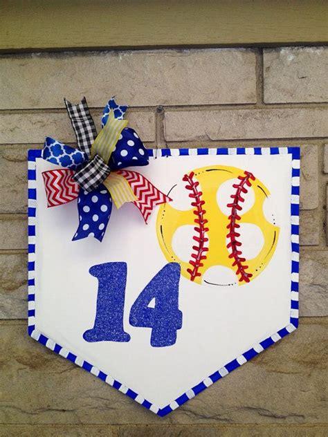 door wreath hanger homebase 1000 ideas about softball decorations on