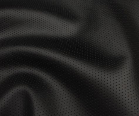 black leather material upholstery vinyl faux leather perforated black commercial grade