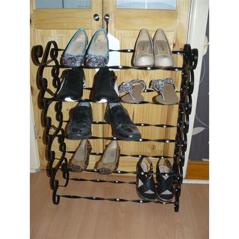 shoe rack wrought iron