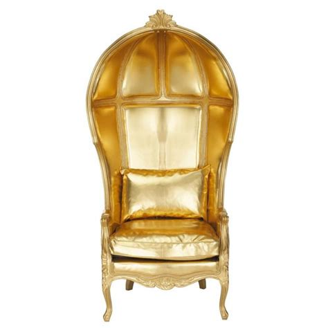 Gold Armchair by Gold Armchair Carrosse Carrosse Maisons Du Monde