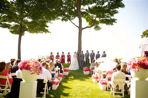 Backyard Wedding Ceremony And Reception by Michigan Home Wedding