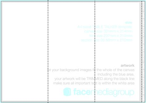 a4 tri fold brochure template word templates resume