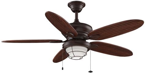 Outdoor Ceiling Fan Light Kits Fanimation Fp7963rs Rust 52 Quot 5 Blade Outdoor Ceiling Fan Blades And Light Kit Included