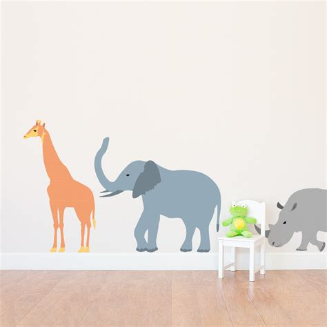safari animal wall stickers patterned safari animals printed wall decal set