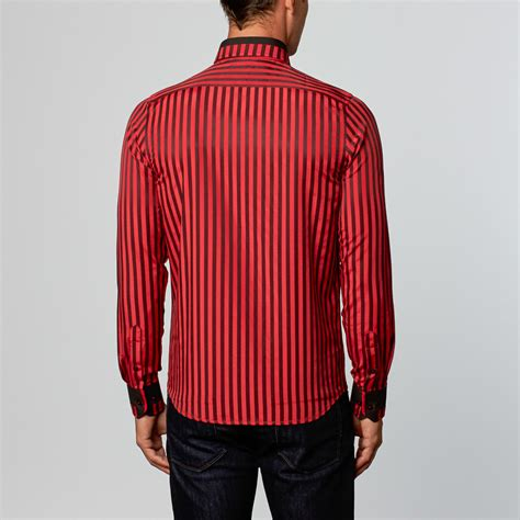 Black Fashion Shirt dress shirt black stripe l fashion clearance