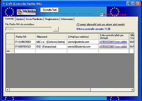 ministero dell interno partita iva ctlpi controllo automatico validit 224 partite iva