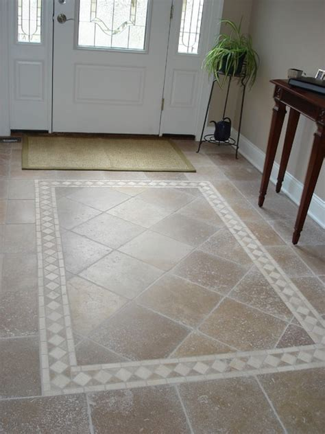 Entryway Tile Patterns tiled foyer