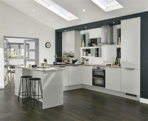 Kitchen Design Howdens Greenwich Gloss Dove Grey Kitchen Universal Kitchens