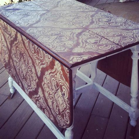 1000 ideas about stencil table on stenciled