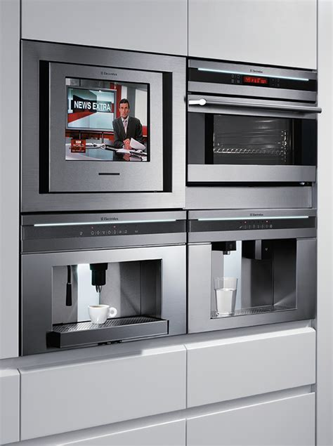 design house kitchen and appliances electrolux pan european appliance design includes an lcd