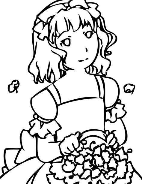 coloring pages girl coloring pages flowers coloring pages