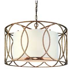 drum shade chandelier lighting five light wrought iron chandelier with center drum shade