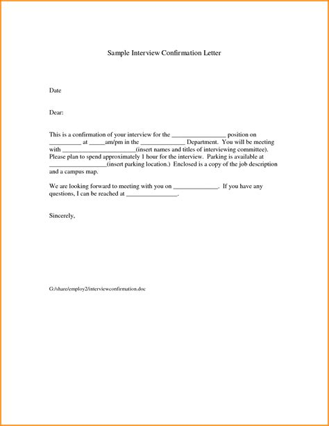 Confirmation Letter Response Image Gallery Confirmation Email