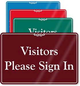 all visitors must sign in template visitors sign in out signs images