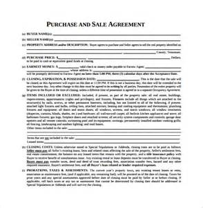 Sales And Purchase Agreement Template by Purchase Agreement 10 Free Documents In Pdf Word