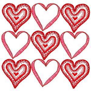 Hearts valentines day card template for pages free iwork templates