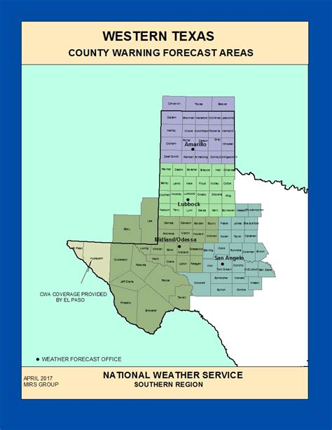 map of west texas counties maps west texas county warning forecast areas