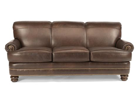 flexsteel living room leather sofa b3791 31 hickory