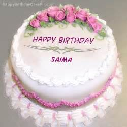 pink rose birthday cake for saima