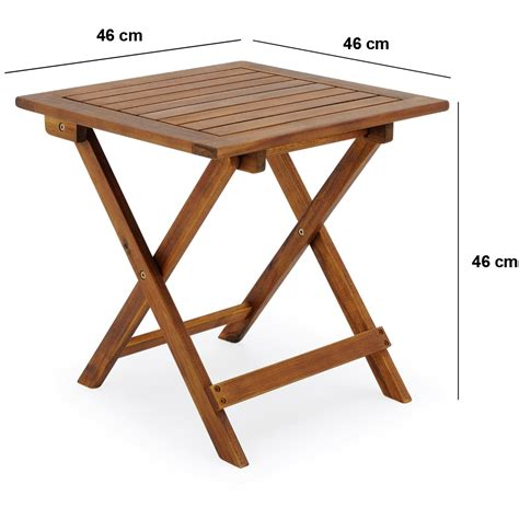 Folding Coffee Table Uk Garden Side Table Coffee Acacia Folding Wooden Snack Drinks Outdoor Summer 46cm Ebay