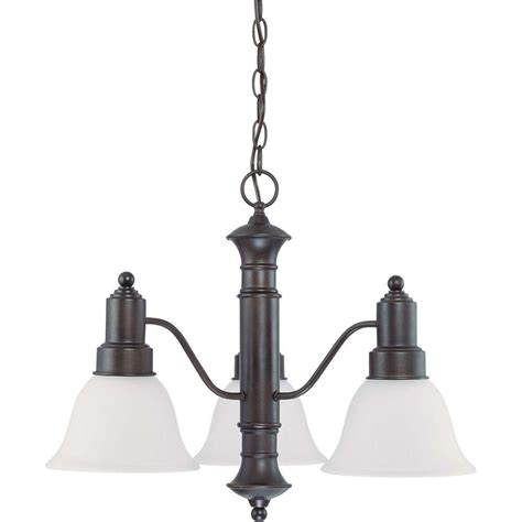 glomar 3 light mahogany bronze vanity light with chagne linen washed glass hd 1265 the home glomar 3 light mahogany bronze chandelier with frosted white glass shade hd 3144 the home depot