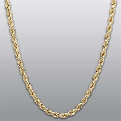 rope for jewelry yellow gold 10k rope chain necklace