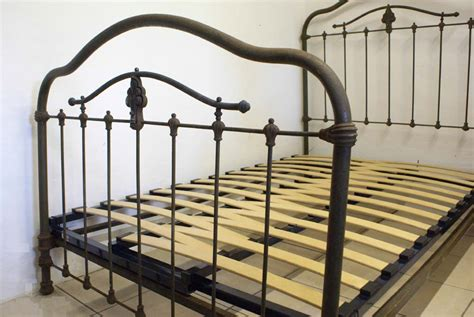 old iron beds industrial finish 4ft french antique iron bed includes base