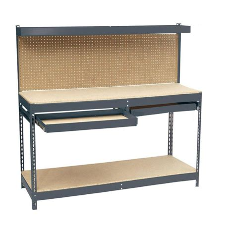 workers bench edsal 6 ft 72 in w x 24 in d x 60 in h heavy duty