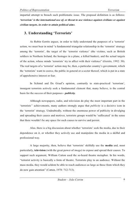 Essay About Terrorism by Terrorism Essay