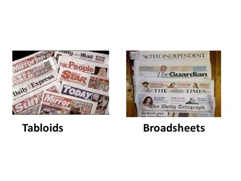 newspaper layout types broadsheet vs tabloid layout images