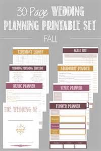 Wedding Planner Book Free 30 Page Wedding Planning Printable Set Wedding Planning